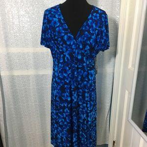 Chaps Women's Dress Cobalt Blue and Black Size 16W